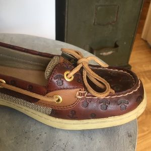Sperry Shoes - Sperry Leather Angelfish Embossed Boat Shoe 8.5